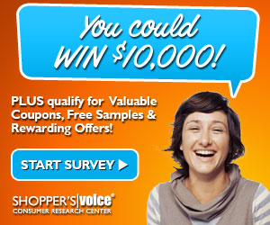 11335 2014 display ad SWEEPSTAKES 300x250 Shoppers Voice: Speak Your Mind & Earn Rewards! (Enter to win $10,000)