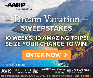 AARP: Enter to Win a Dream Vacation Package