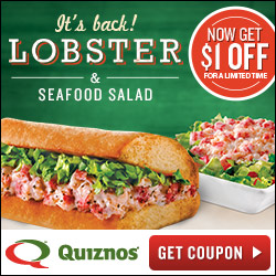 picture regarding Quizno Printable Coupons named Quiznos: $1 off Sub or Salad Printable Coupon