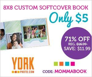 $5 8×8 Mother's Day Photo Book From York Photo! (New Customers)