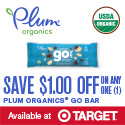 Save $1 on Plum Organics Go Bars!