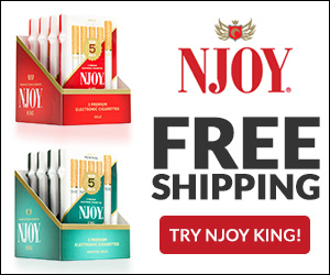 FREE Njoy eCig Sample – Just Pay $2.99 Shipping!