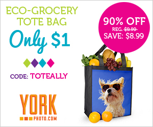 12162 23364091 Customized Grocery Tote Bag only $1!