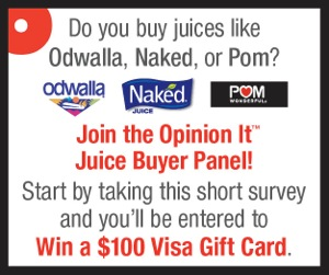12446 Juice 300x250 FNL Take a Survey About Juice and Enter to Win a $100 Gift Card!