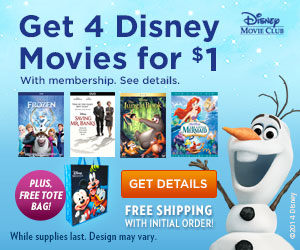 FREE Tote with Disney Movies