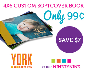 13276 24458295 4x6 SoftCover Photo Book only $0.99!