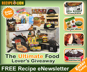 $2,000 Ultimate Food Lover Giveaway