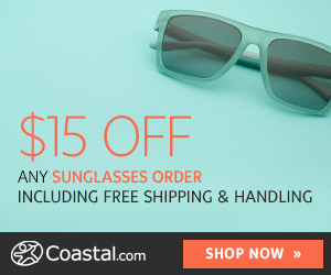 $15 Off First Coastal Contacts Order + FREE Shipping!