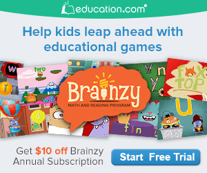 FREE 7 Day Trial of Brainzy From Education.com!