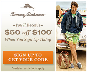$50 off $100 at Tommy Bahama