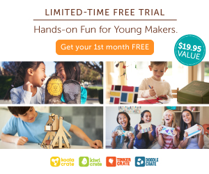 Free Craft Kits from Kiwi Crate