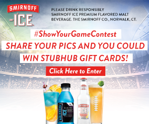Calling all football fans- Smirnoff Ice wants to see how you game! Share your pics and you could win StubHub Gift Cards for Gameday tickets
