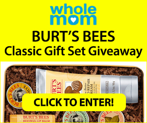 Enter to win this Burt's Bees Classic Gift Set which includes: Beeswax Lip Balm, Lemon Butter Cuticle Cream – Travel Size, Hand Salve – Travel Size, Res-Q Ointment – Travel Size, Coconut Foot Cream, Shea Butter Hand Repair Cream, and a Burt's Bees Classic Tin