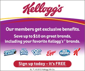 2113 Code 300x250 save10 Kelloggs Family Rewards: 25 FREE Points!