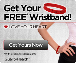 Free Love your Heart Wristband
