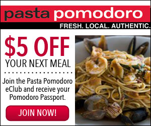 Download Your Complimentary Coupons Here! Click on the coupon to print it out and bring the coupon in to Pomodoro's. Coupons good at the Fairfax location only. Fairfax Towne Center Fairfax, VA () GET DIRECTIONS.