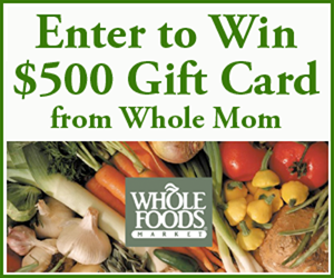 $500 Whole Foods Market Gift Card Sweepstakes