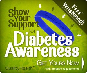 Get your Free Diabetes Awareness Wristband!