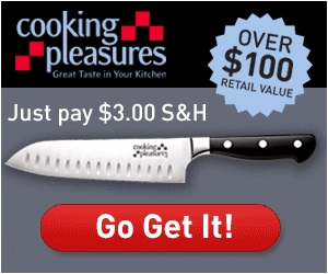Get A $100 Santoku Knife For $3.00!