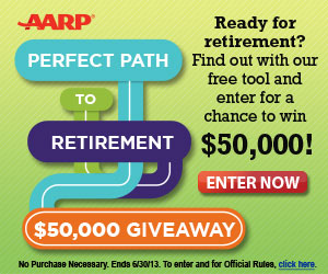 Enter to Win $50K or a Daily Prize of a $25 VISA Card (Ages 40 and Up)