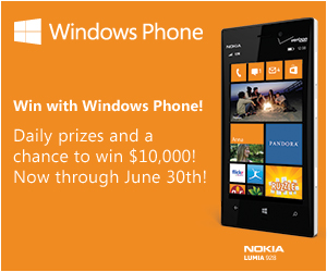 Win Prizes with the Windows 8 Phone Demo