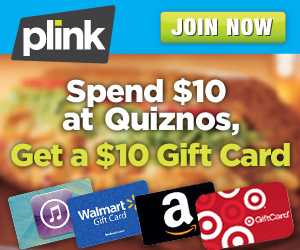 Buy a $10 Quiznos Gift Card and get a $10 for ANYWHERE you want back