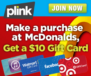 Shop at McDonald's and get 1,000 Plink Points