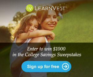 Learnvest College Sweepstakes banner