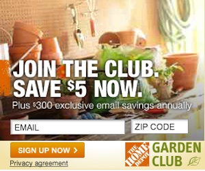 Home Depot Garden Club 5 Off 300 In Annual Coupons