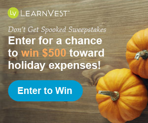 "LearnVest ""Don't Get Spooked"" Sweepstakes: Enter to Win $500 Cash Toward Holiday Expenses"