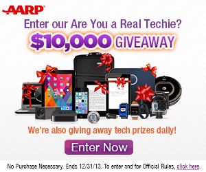 9177 AARP tech sweeps 1013 300x250 1 AARP $10,000 Techie Trivia Giveaway!