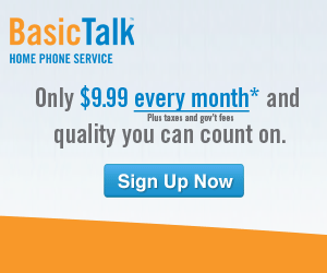Get BasicTalk Phone Service for $9.99/Month and Receive a FREE $200 Restaurant.com Gift Card!